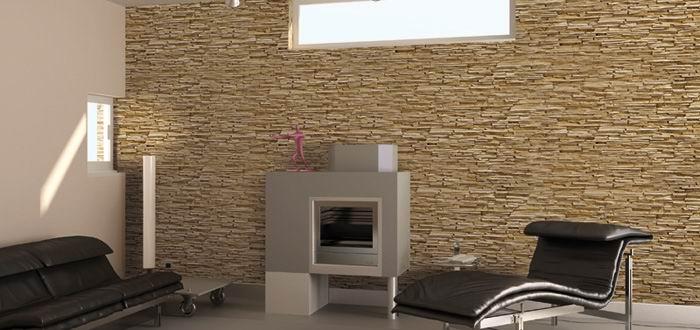 Montaggio dei pannelli in finta pietra per rivestimenti esterni ...