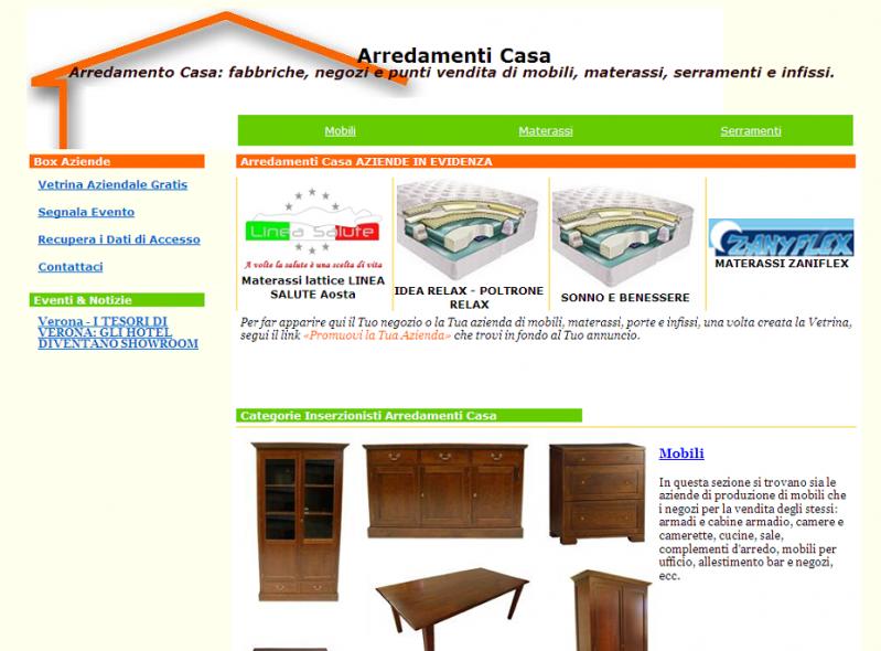 Su arredamenti casa trovi mobili serramenti e materassi for D urbano arredamenti